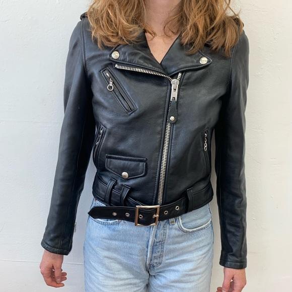 dac9bbf4f Schott NYC Perfecto Cropped Lambskin jacket